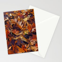 TWO BLADES OF GRASS AMONG OAK LEAVES Stationery Cards