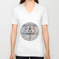 shiva V-neck T-shirts featuring Shiva by Jonnea Herman