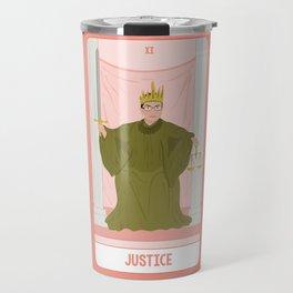 Tarot Card XI: (Supreme Court) Justice Travel Mug