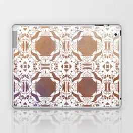 WHITE AND GOLD WATERCOLOR MOSAIC  Laptop & iPad Skin
