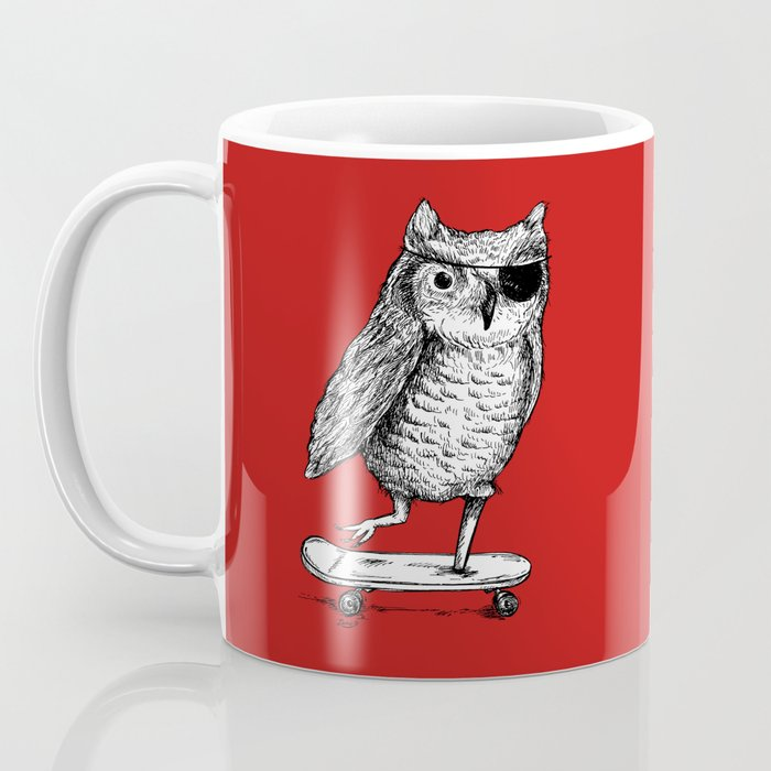 Ride On Owl_red Coffee Mug