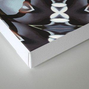 Shades Of Blue Kaleidoscope Canvas Print