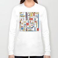 fibonacci Long Sleeve T-shirts featuring Mondrian meets Fibonacci by Studio Fibonacci