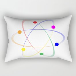 LGBT Whirling Atoms Rectangular Pillow