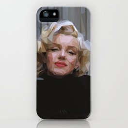 'Marilyn' Low Poly Triangle Artwork iPhone Case