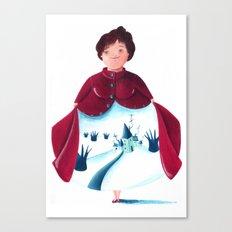 winter lady Canvas Print