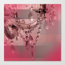 Sparkly Beads on a Chandelier Canvas Print