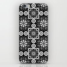 Retro .Vintage . Black and white openwork ornament . iPhone & iPod Skin