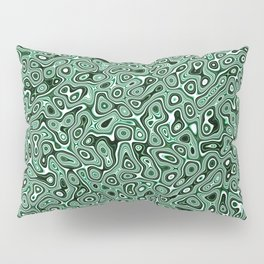 Abstract fractal green marbleized psychedelic plasma Pillow Sham
