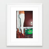 swag Framed Art Prints featuring SWAG. by Gruf Production