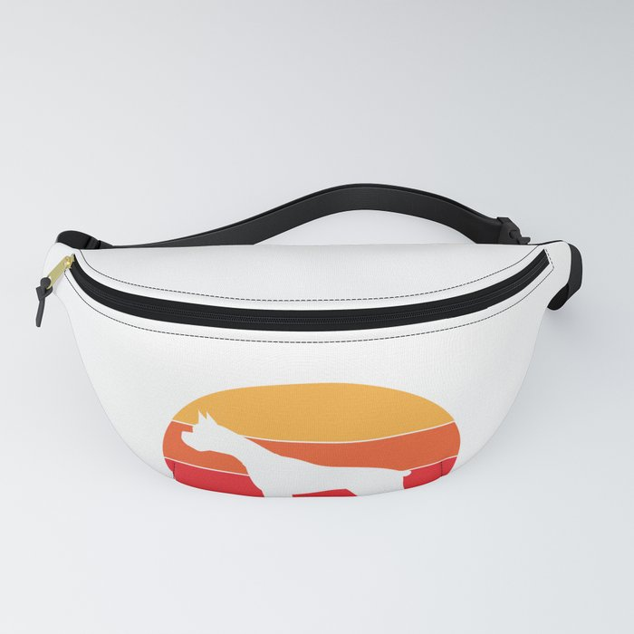 Vintage Retro 80s Boxer Dog for Canine Friendly Families design Fanny Pack