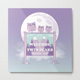 Twin Peaks - Owls Metal Print