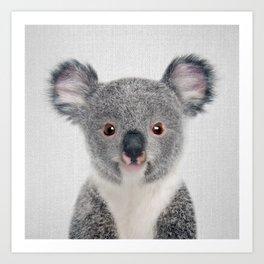 Baby Koala - Colorful Art Print