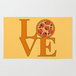 Love Pizza Rug
