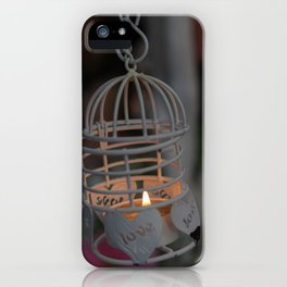 Love candle light iPhone Case