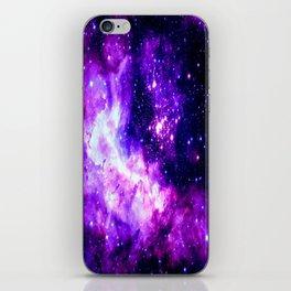 Purple Galaxy : Celestial Fireworks iPhone Skin