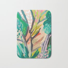 tree and leaf : abstract painting Bath Mat