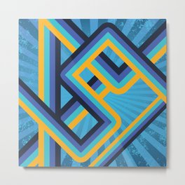Geometric abstract lines Metal Print