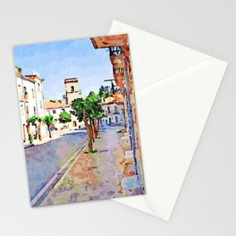 Borrello: street with buildings Stationery Cards