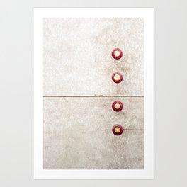 Four on Gray Art Print