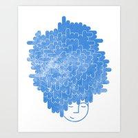 Bed Head Art Print