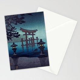 Tsuchiya Koitsu - Miyajima in Rain - Japanese Vintage Woodblock Painting Stationery Cards