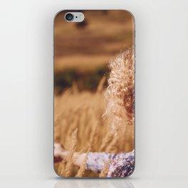 Girl in the field iPhone Skin