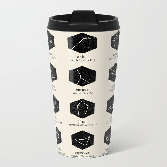 Zodiac Metal Travel Mug