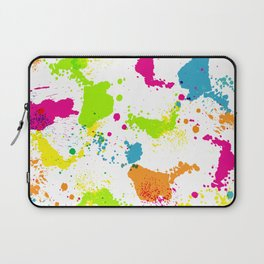 colorful paint blots Laptop Sleeve