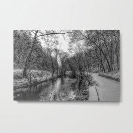 Valley Creek after a snow storm Metal Print