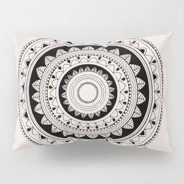 Modest black mandala Pillow Sham