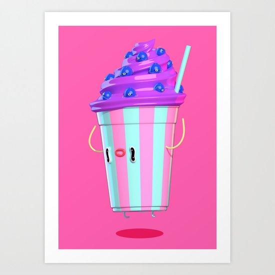 Milkshake III Art Print