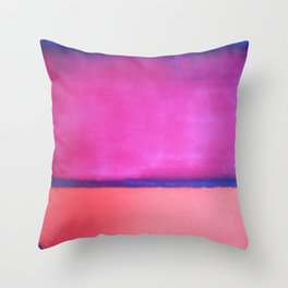 ROTHKO - PINK, PURPLE, BLUE Throw Pillow