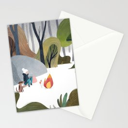 keeping warm Stationery Cards