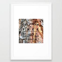 Hustle Sold Separately Framed Art Print