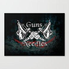 guns 'n' needles Canvas Print