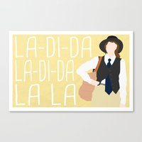 "annie hall Canvas Prints featuring Annie Hall ""La-Di-Da"" by DeanFred Rex"