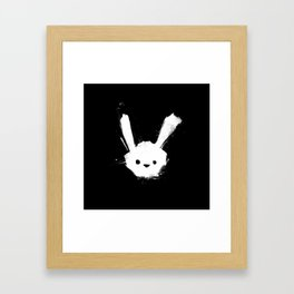 minima - splatter rabbit  Framed Art Print