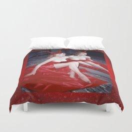 Femme Fatale - Anita Red Devil Glitter Duvet Cover