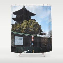 Kyoto Street Shower Curtain