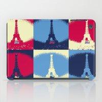 eiffel tower iPad Cases featuring Eiffel Tower by Aloke Design