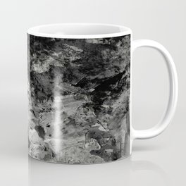 Impossibility - Textured, black and white abstract Coffee Mug