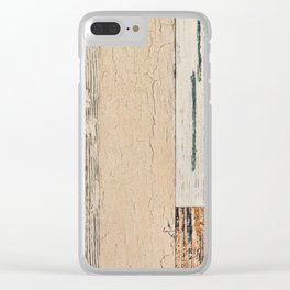 Old painted board Clear iPhone Case