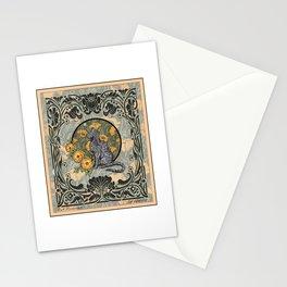 Cat Nouveau Stationery Cards