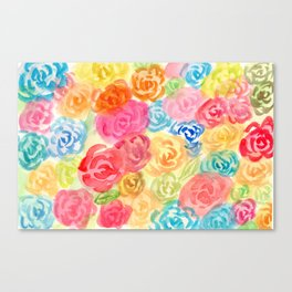 Rose Rose Blossom Canvas Print
