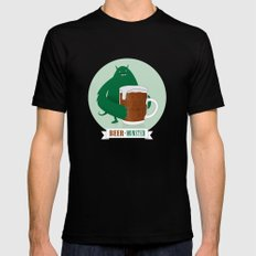 Beer Monster Black Mens Fitted Tee LARGE