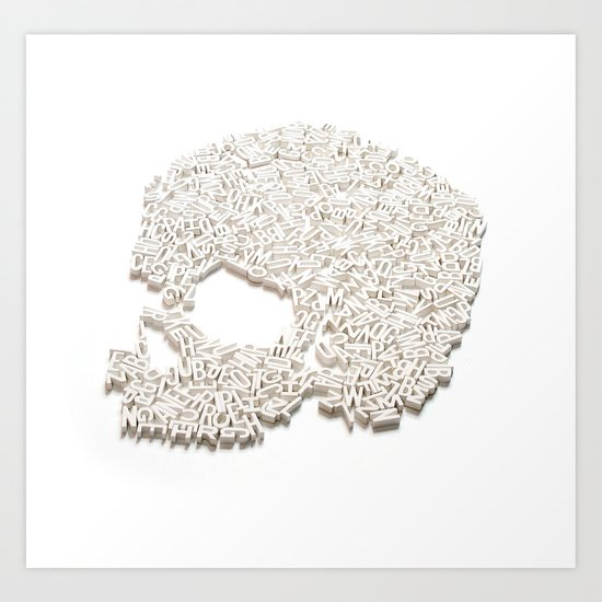 303. A Skull of Letters Art Print