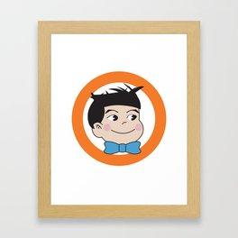 Mabo in ring of orange Framed Art Print