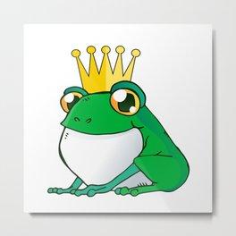 Sweet Frog King - Prince Frog Comic Metal Print