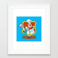 chef Framed Art Prints featuring chef by Fargon